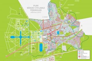 Plan des pistes cyclables