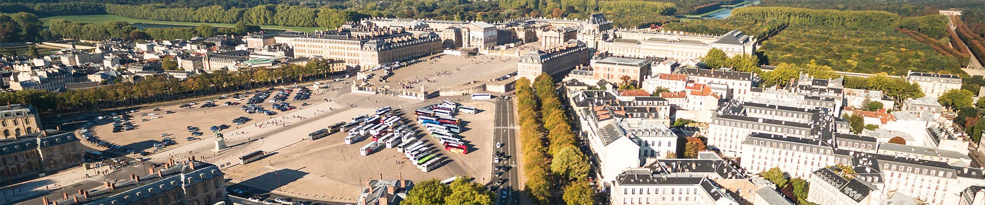 Aerial view Places d'Armes parking