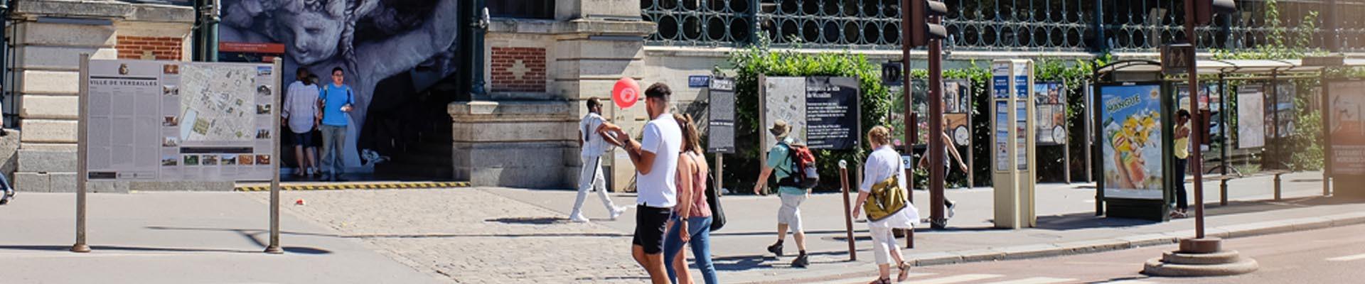 Estación Versailles Rive-Gauche y mapa de la ciudad