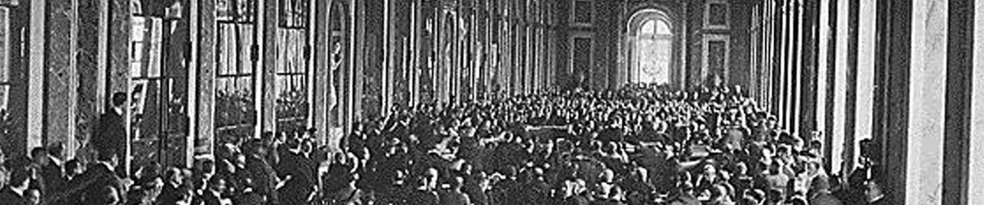 El Tratado de Versalles en la Galería de los Espejos