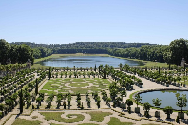 Classic French-style gardens