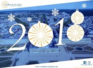 2018 greeting card from the Versailles Tourist Office