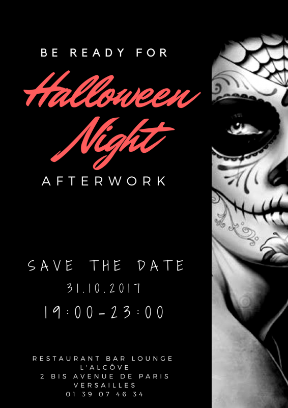 Halloween afterwork flyer at Versailles at the hotel Le Louis, Versailles Castle - MGallery By Sofitel