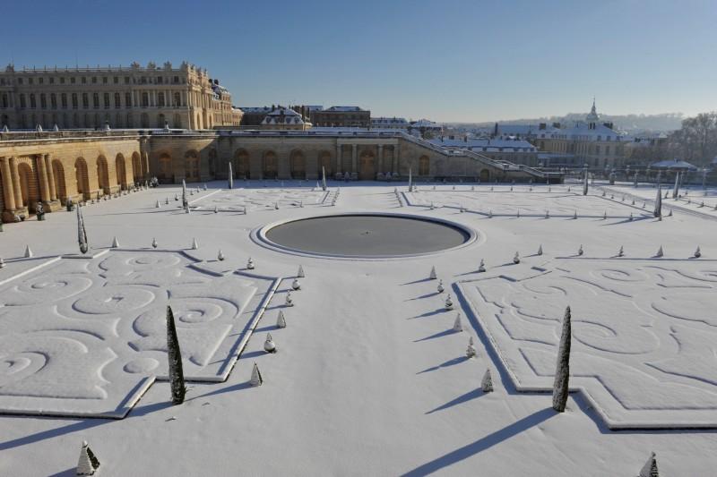Vue sur l'Orangerie du Château de Versailles