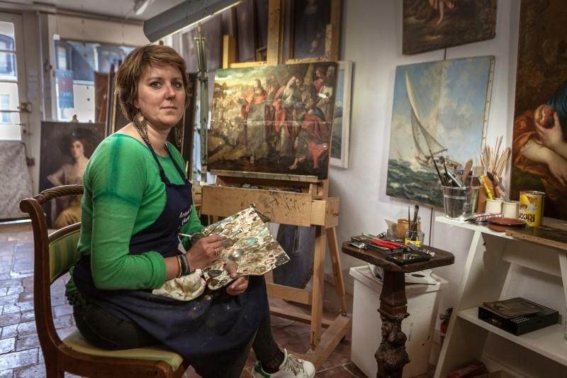Exposition portraits d'artisans d'art de Versailles