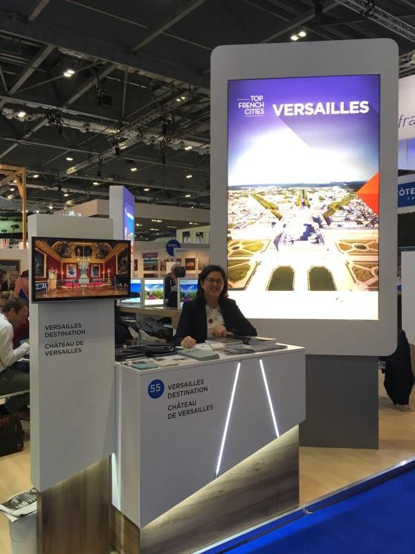 Stand de Versailles au World Travel Market 2017