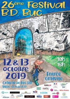 Affiche du 26e festival de BD de Buc