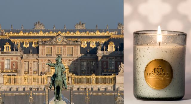 Palacio de Versalles y vela Arty Fragrance