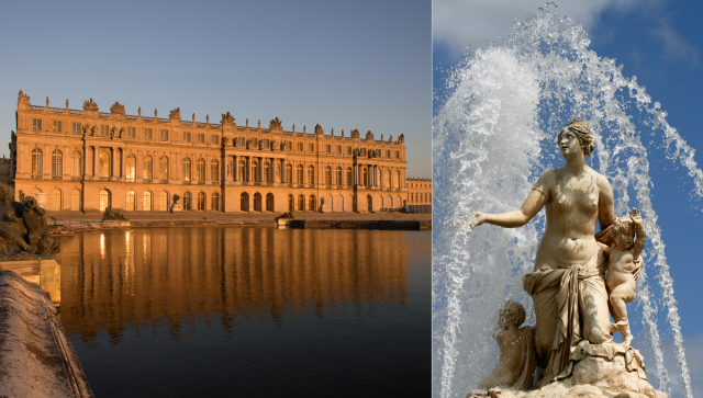 Palace of Versailles and Latone's fountain