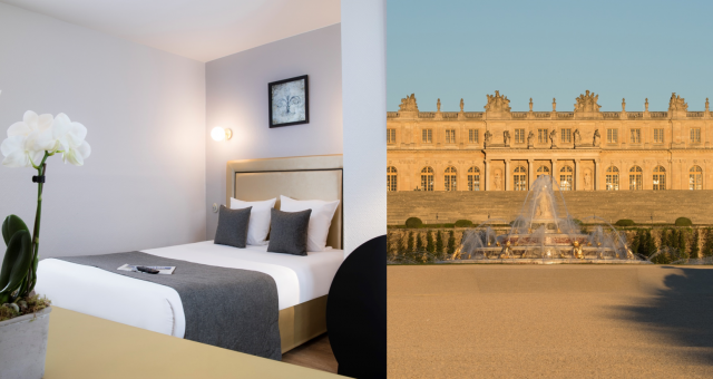 stay in the Roys's hotel - palace - versailles - garden