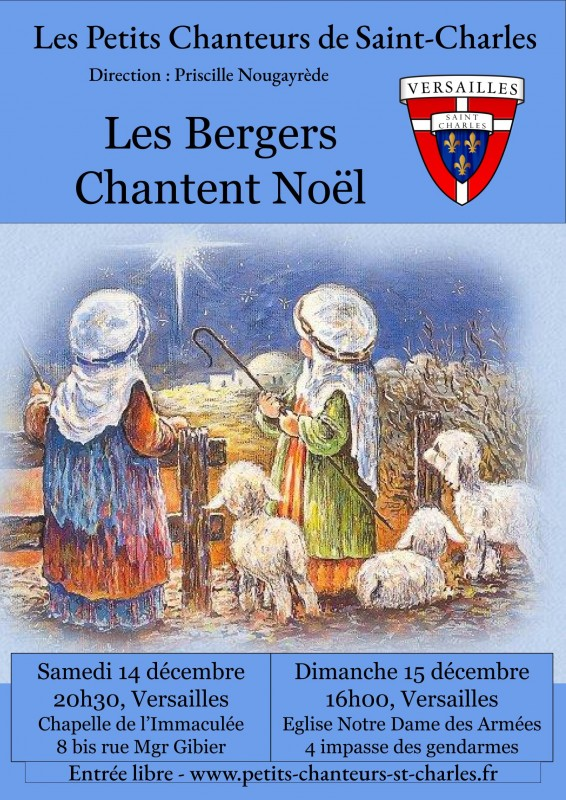 Concert de Noël des Petits Chanteurs de Saint-Charles - Les Bergers chantent Noël à la Chapelle de l'Immaculée Conception