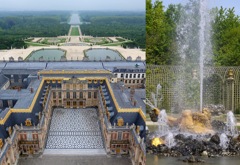 Palace of Versailles - Musical fountains show - gardens - fountains