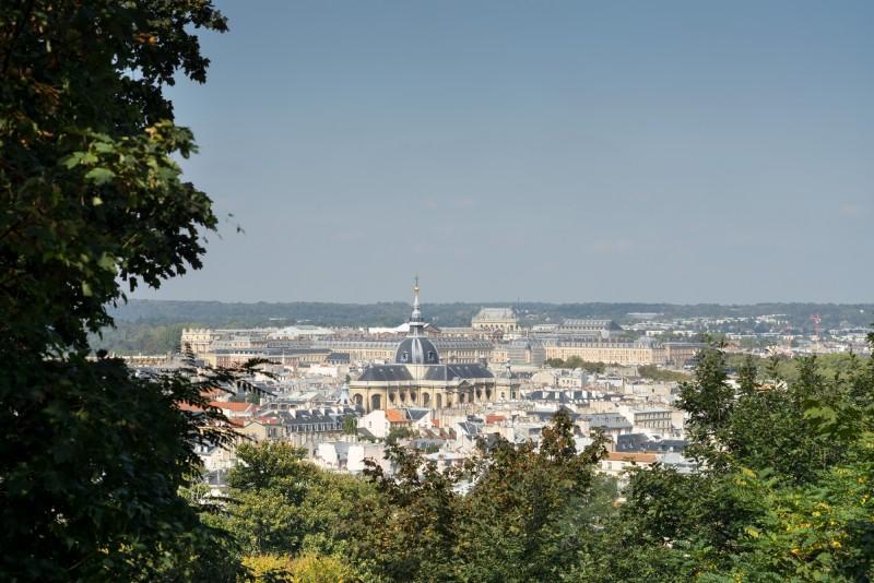 Le quartier Saint-Louis vu de la rampe Saint-Martin à Versailles